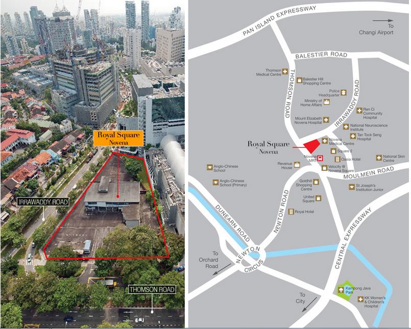 Royal Square Novena Location Map 2