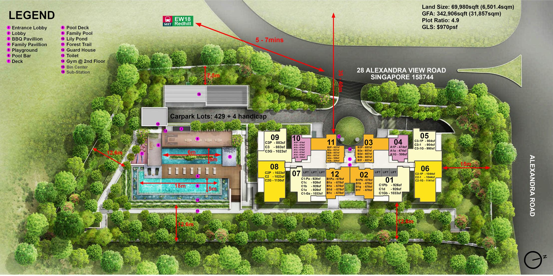 Alex-Residences-site-map alex residences Alex Residences | Showflat Hotline +65 6100 7122 Alex Residences site map
