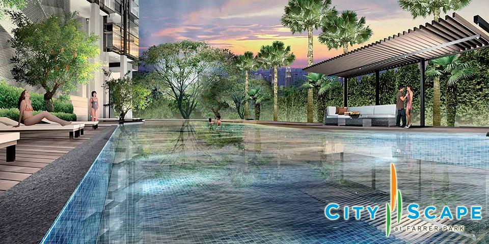 CityScape At Farrer Park-Singapore Pool cityscape at farrer park CityScape At Farrer Park Singapore| Showflat Hotline +65 61007122 CS Slide03