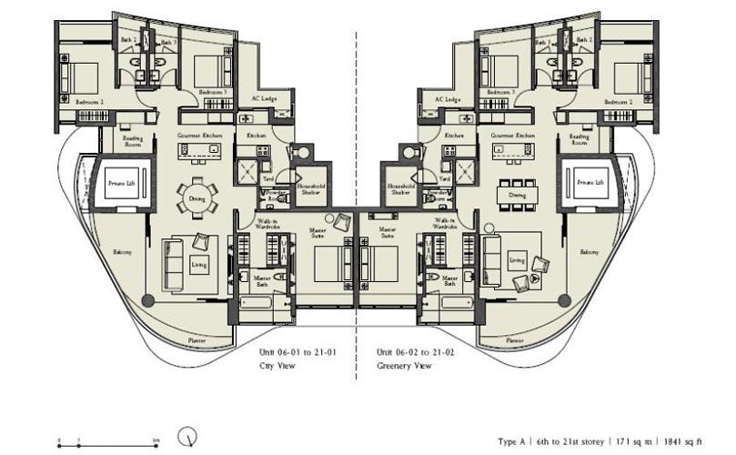 Ferrell-Residences FloorPlan ferrell residences Ferrell Residences Singapore |Showflat Hotline 61007122 Ferrell Residences Floorplan