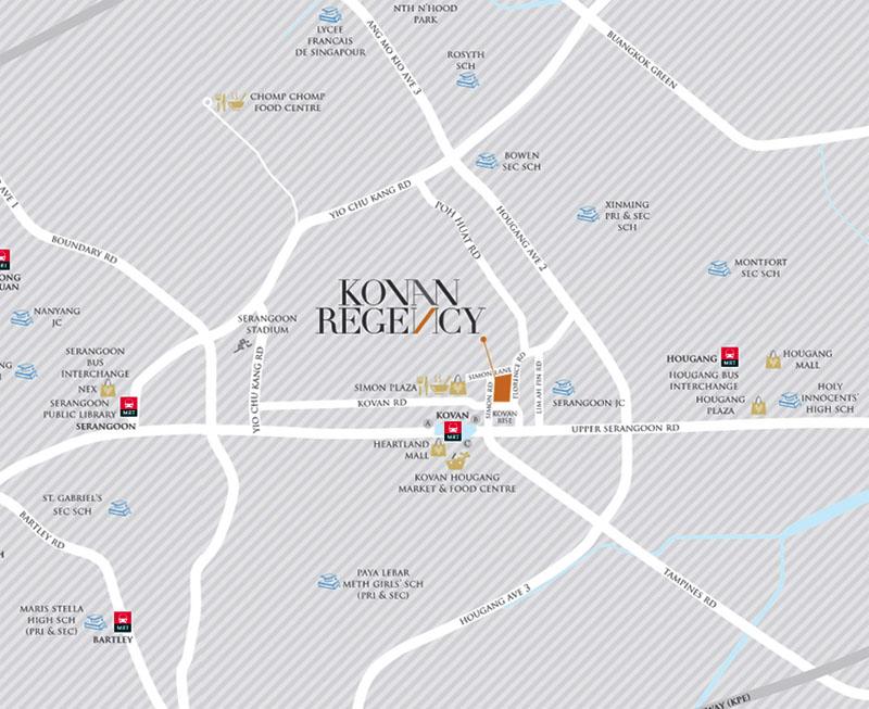Kovan-Regency-Location-Map kovan regency Kovan Regency Singapore |Showflat Hotline 61007122 Kovan Regency Location Map
