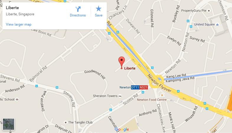 Liberte-Sarkies google map