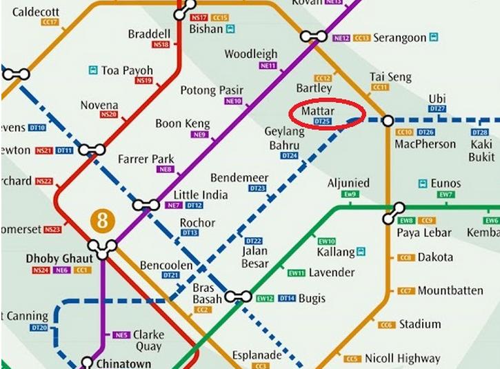 Macpherson Mall-Singapore MRT Map