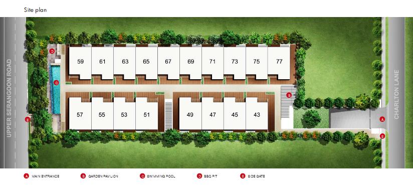 Charlton18-kovan Site-Plan charlton 18 Charlton 18 Singapore Site Plan