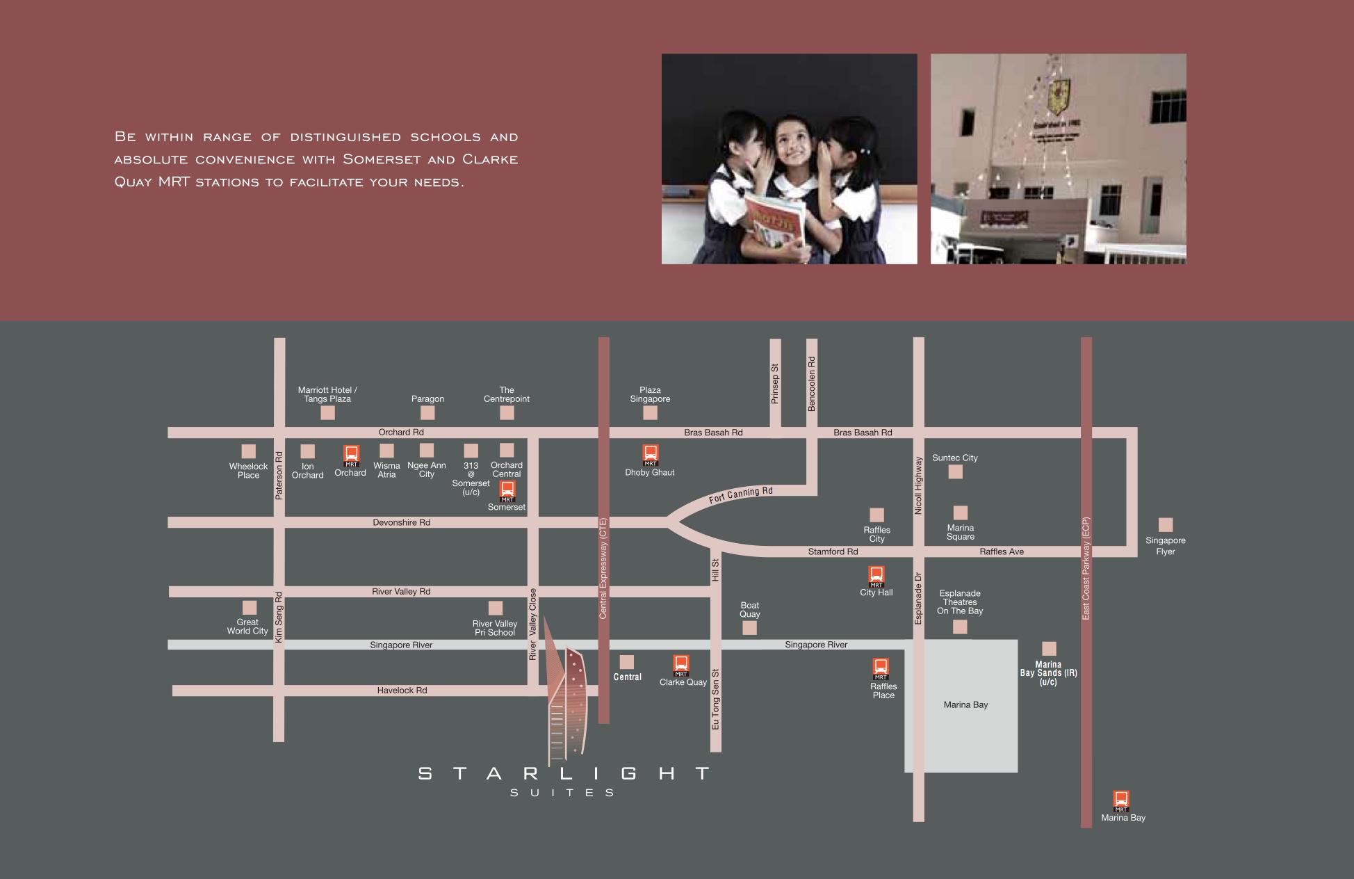 Starlight Suites-Location-Map