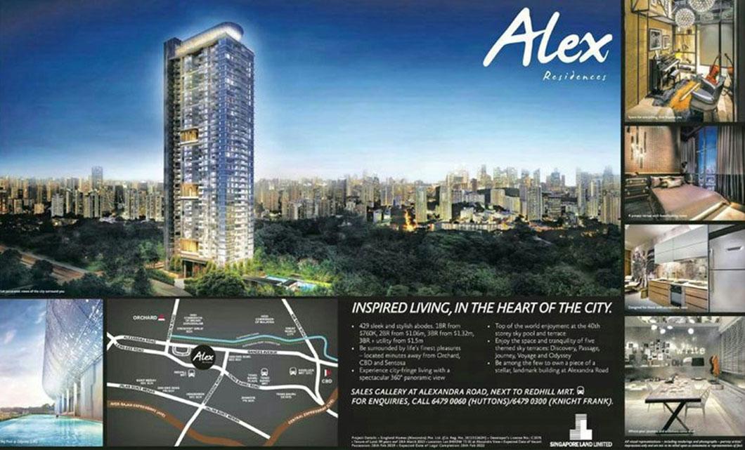 alex residences Singapore advertisementt alex residences Alex Residences | Showflat Hotline +65 6100 7122 alexRes advert