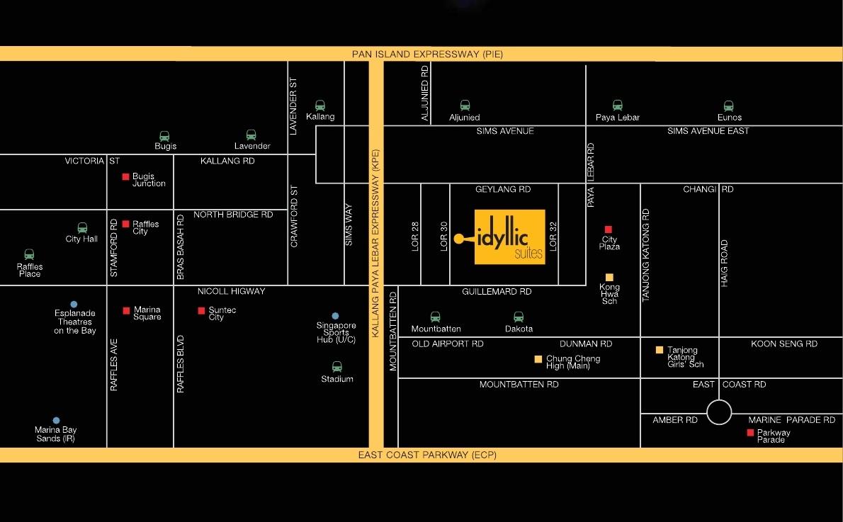 Idyllic Suites Singapore Map idyllic suites Idyllic Suites Singapore   Showflat Hotline +65 61007122 idyllic suites map