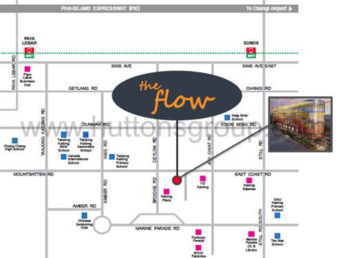 The Flow @ East Coast-Singapore Plan the flow @ east coast The Flow @ East Coast Singapore |Showflat Hotline 61007122 locationmap7