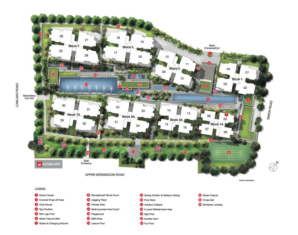Kovan regency site plan kovan regency Kovan Regency Singapore |Showflat Hotline 61007122 site plan large