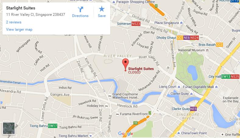 starlight suites gooogle map