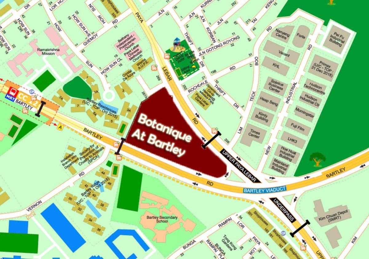 botanique @ bartley singapore map botanique @ bartley Botanique @ Bartley By UOL  Showflat Hotline +65 61007122  Bartley MRT Botanique at Barley Location