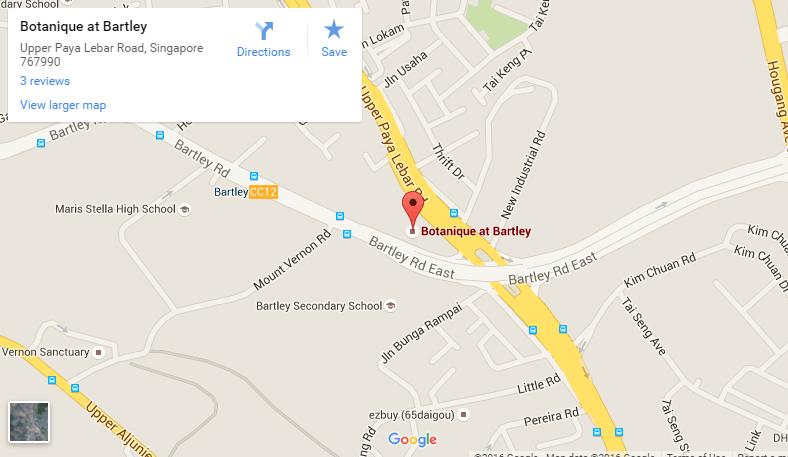 google map botanique @ bartley Botanique @ Bartley By UOL  Showflat Hotline +65 61007122  Bartley MRT google map