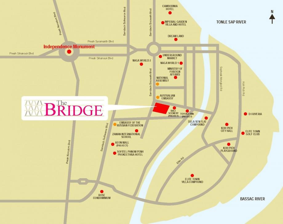 The Bridge SOHO location map
