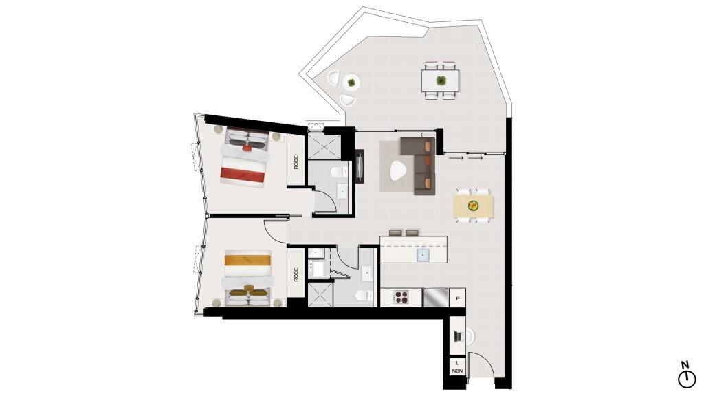 AQUA floor plan aqua newstead central Aqua Newstead Central Brisbane, AUSTRALIA AQUA0512aBG
