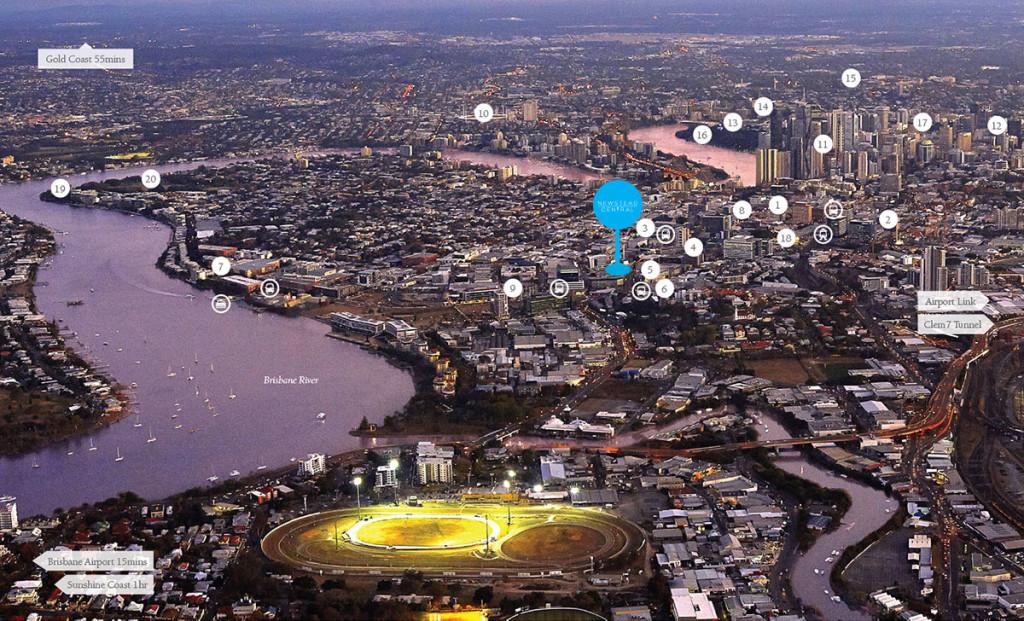 Laguna-Newstead Central aerial-shot laguna newstead central Laguna Newstead Central, Brisbane | Showflat Hotline 61007122 aerial shot