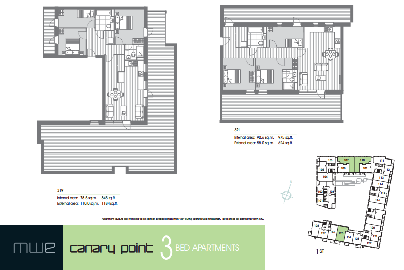 Marine Wharf East floor plan 3 bedroom marine wharf east Marine Wharf East -Canary Wharf | Zone 2 London UK Property Investment 2015 04 03 19 58 27 Marine Wharf East brochure 1 9 14