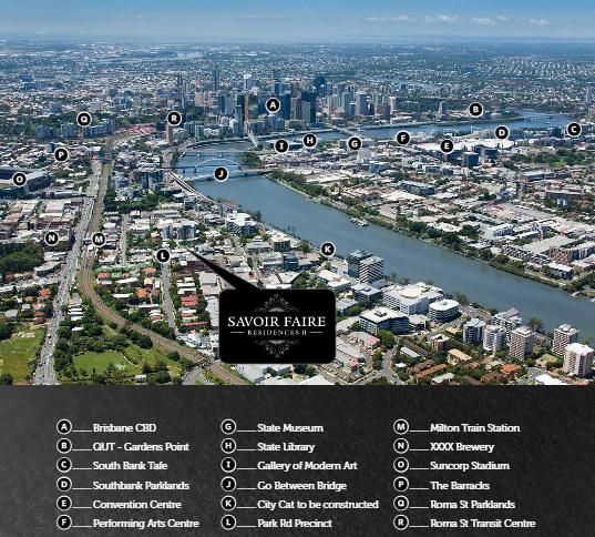 Savoir Faire Residences II Location map savoir faire residences Savoir Faire Residences II - Milton | Brisbane 2015 04 03 20 47 39 Dropbox SFIIArielMapPage