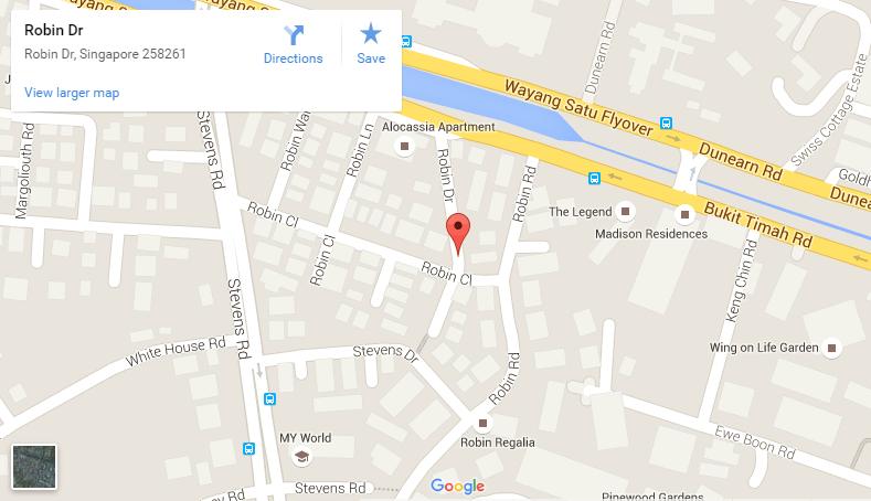 Robin Residences google map