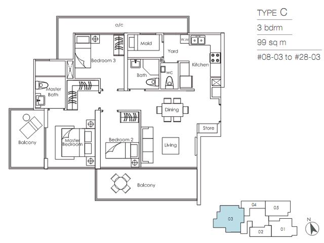 Sky-Suites-17-Floor-Plan-C skysuites 17 SKYSUITES 17 @ Balestier | Showflat Hotline 61007122 Sky Suites 17 Floor Plan C
