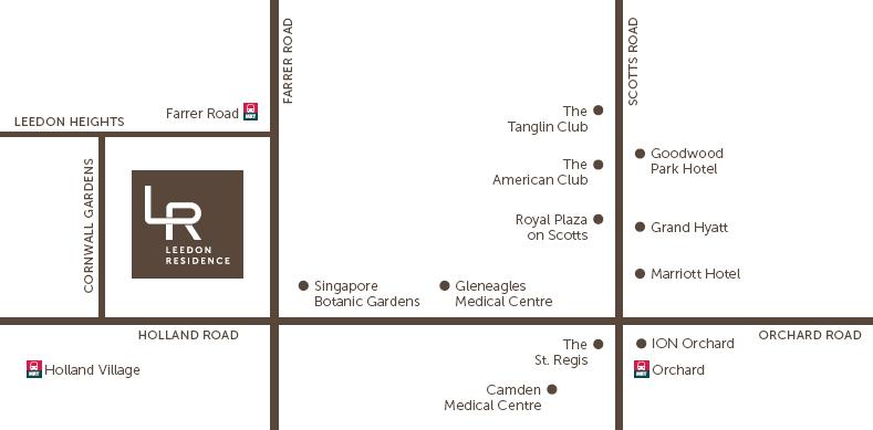 leedon_residence_location_map leedon residence Leedon Residence | Showflat Hotline 61007122 | View Actual Unit leedon residence location map