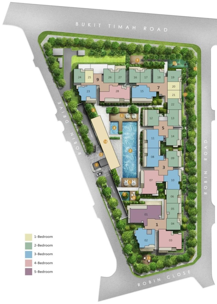 robin residences Robin Residences | Hotline +65 61007122 | 1km to Nanyang, SCGS, ACS robin residences site plan