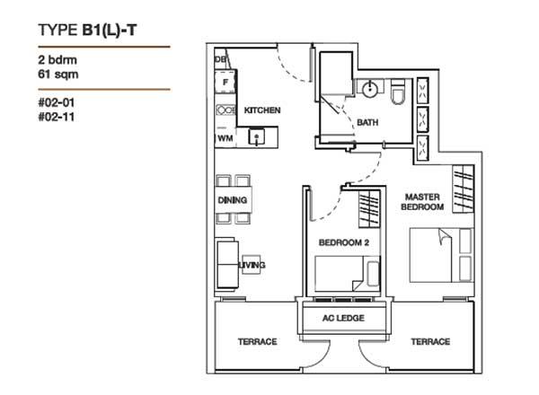 floor-plans floraview Floraview | Showflat Hotline +65 6100 7122 2 bedrooms floor plans 11
