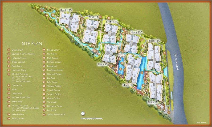 The Creek Bukit Site Plan the creek bukit The Creek Bukit | Showflat Hotline +6561007122 | 1km to Pei Hwa 4 The Creek Bukit Siteplan1