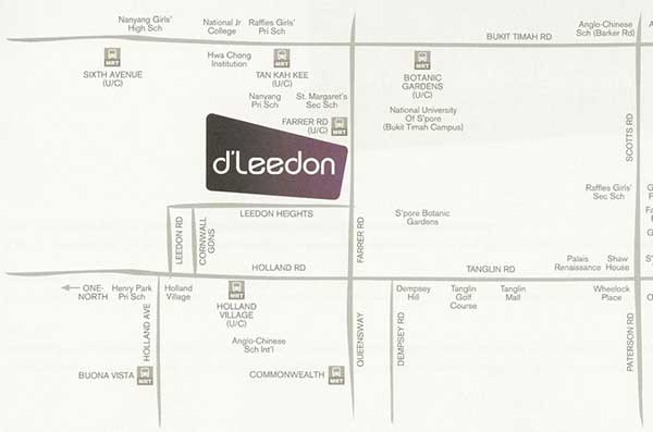 D-Leedon-Location-Map d leedon D Leedon | Singapore D Leedon Location Map
