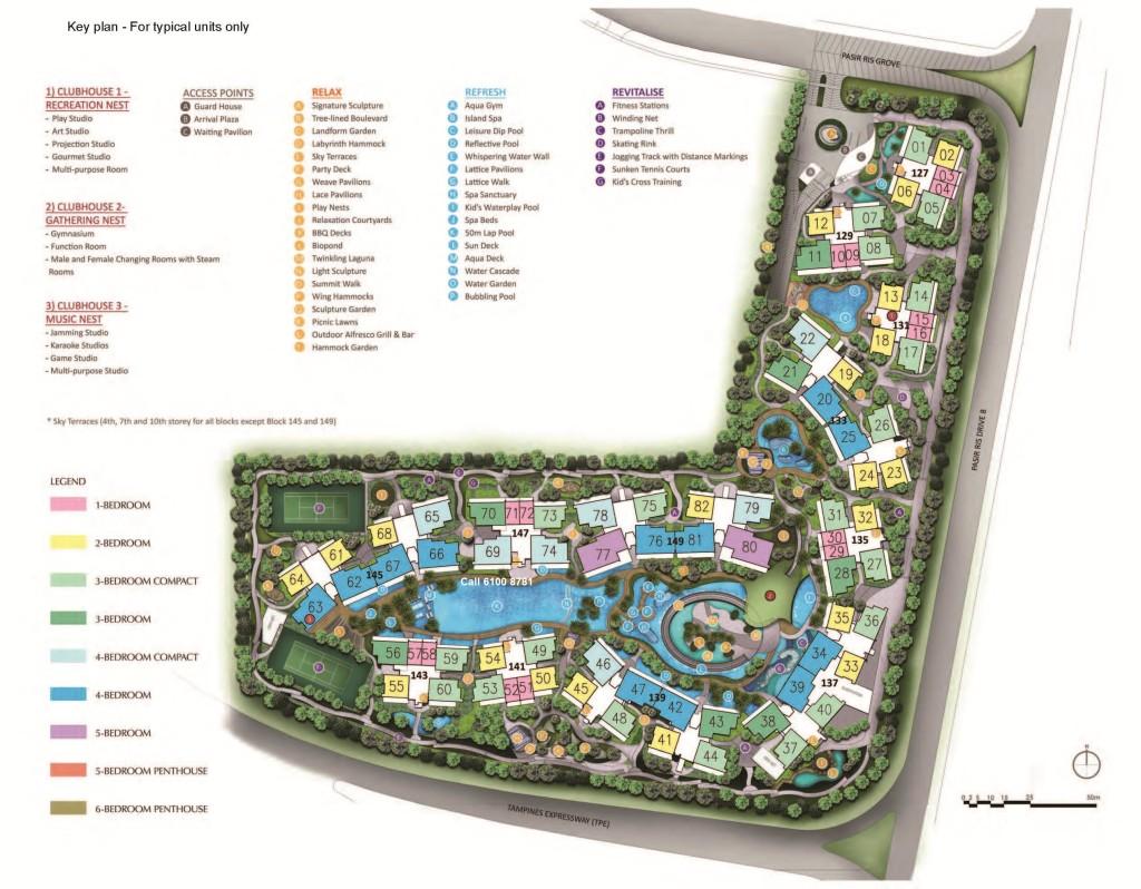 D'Nest-Site-Plan d nest d nest Showflat | Showflat Hotline +65 6100 7122 | CDL Pasir Ris Condo Dnest Site Plan