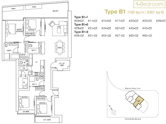 Marina Bay Suites Floor-Plan