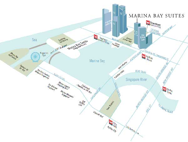 Marina Bay Suites Location-Map