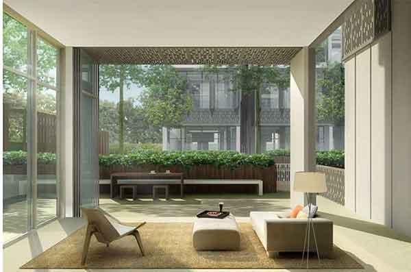Seven-Crescent-Living-Room seven crescent Seven Crescent | Showflat Hotline +65 6100 7122 Seven Crescent Living Room