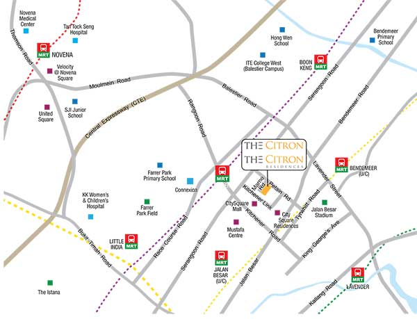 The-Citron-Residences-Location-Map the citron The Citron Residence | Showflat Hotline 61007122 The Citron Residences Location Map