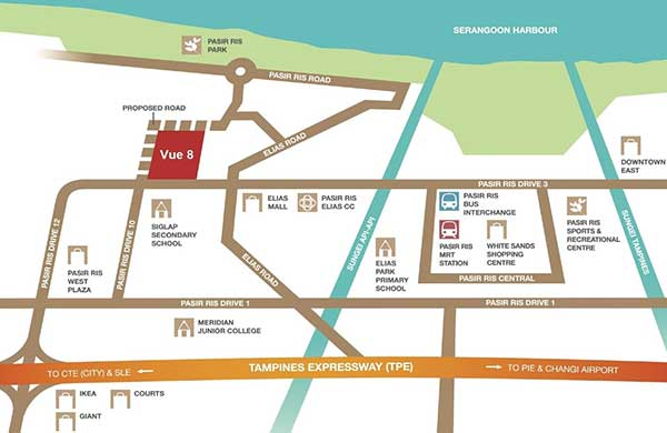 Vue-8-Location-Map vue 8 Vue 8 @ Pasir Ris | Showflat Hotline +65 6100 7122 Vue 8 Location Map