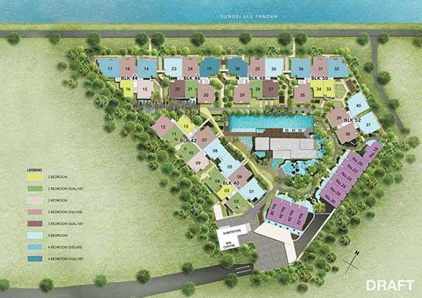 Waterfront @ faber SitePlan waterfront @ faber Waterfront @ Faber | Singapore Watefront Sitemap