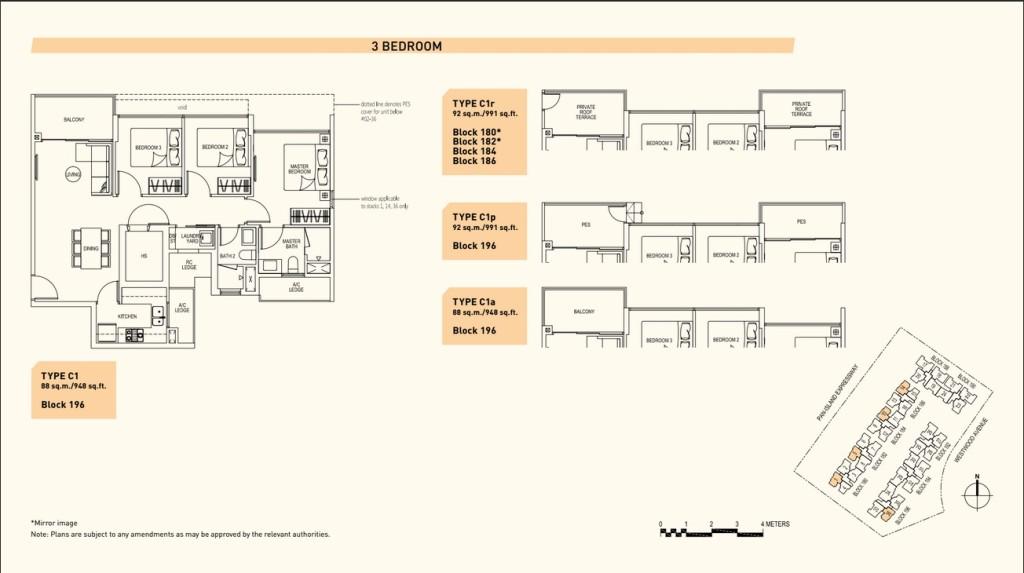 Westwood Residences Floor-Plan westwood residences Westwood Residences EC |Showflat Hotline +65 97555202 Westwood Residences Floor Plan 3 Bedroom
