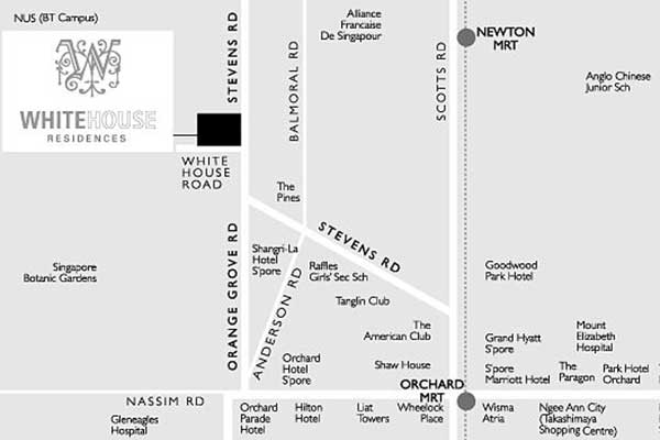 White-House-Residences-Location-Map