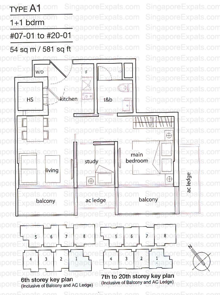 floor plan cradels Cradels | Singapore floorplan TypeA1