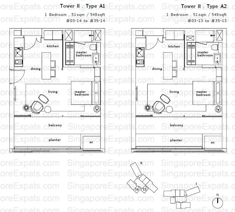 Twin Peaks floorplan twin peaks Twin Peaks | Singapore floorplan TypeA1 A2