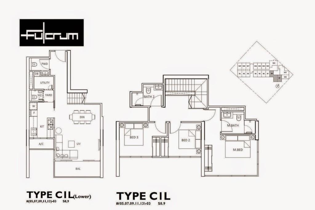 Fort-Road-FloorPlan fulcrum Fulcrum | Showflat Hotline +65 97555202 fulcrum 3BR1
