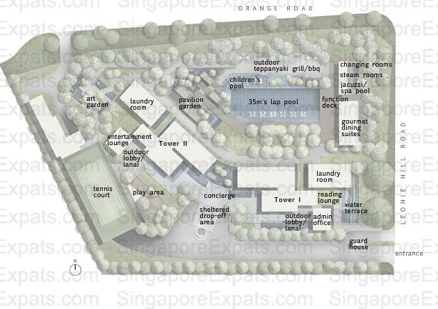 Twin Peaks siteplan twin peaks Twin Peaks | Singapore groundfloor siteplan
