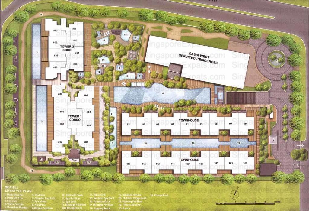 Seahill siteplan