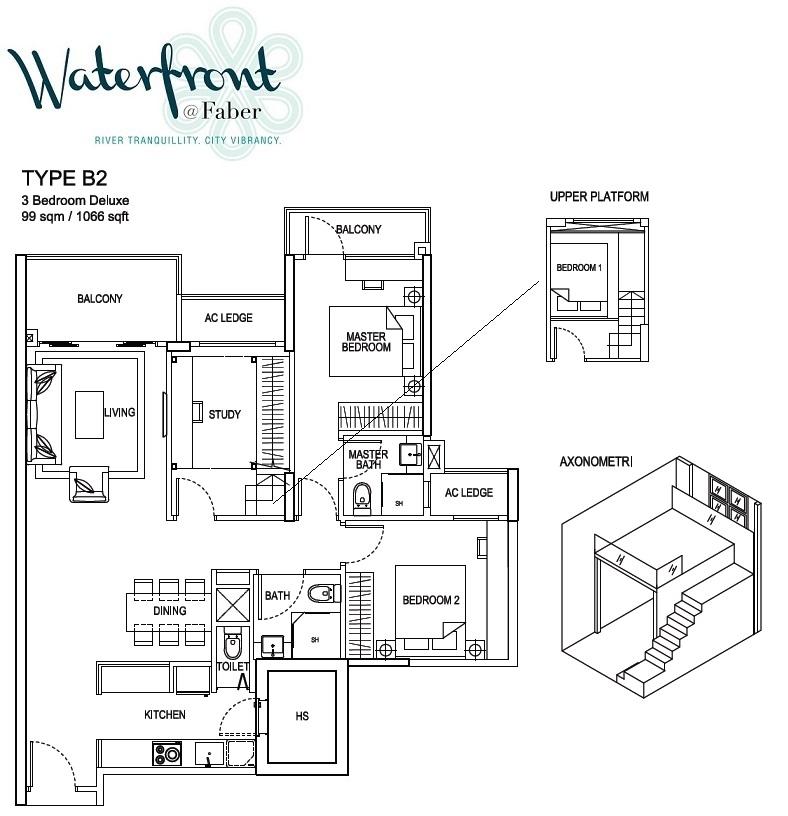 waterfront-@-faber-floor-plan waterfront @ faber Waterfront @ Faber | Singapore waterfront at faber floor plan type b2