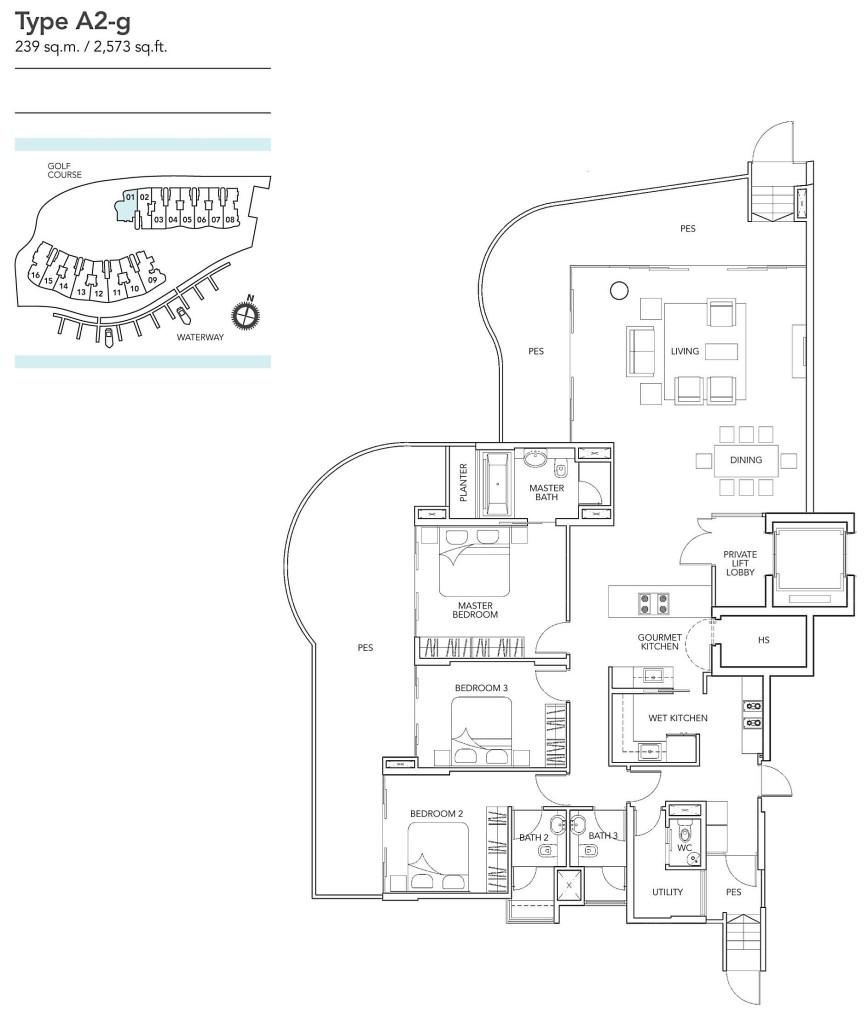 Floor plan turquoise Turquoise | Showflat Hotline 61007122 2608