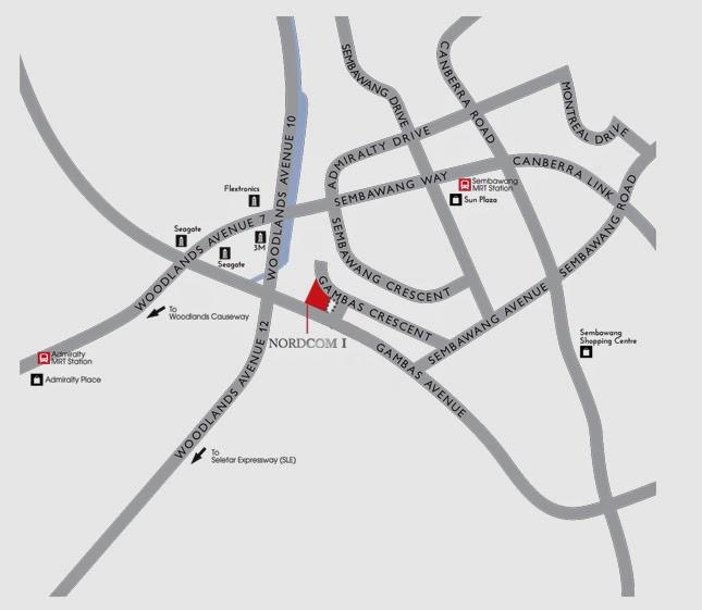 NORDCOM 1 Location Map
