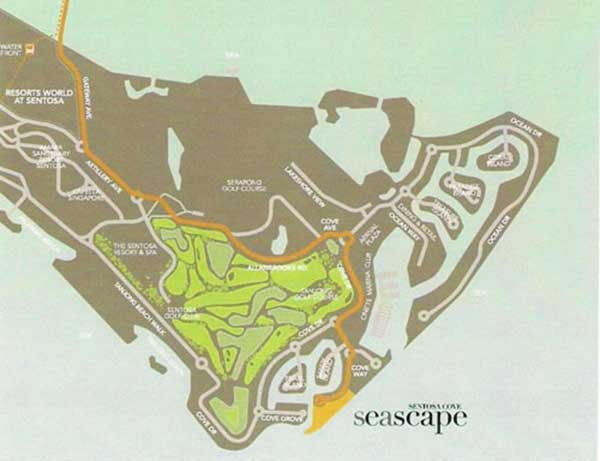 Seascape Location-Map seascape Seascape @ Sentosa Cove | Showflat Hotline 61007122 Seascaoe   Sentosa Cove Location Map