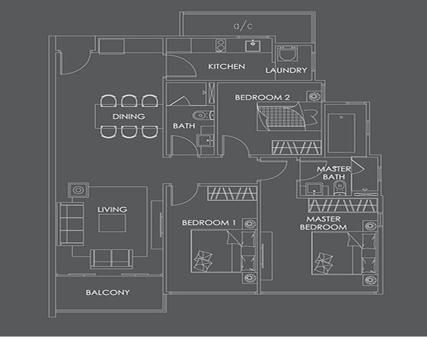 La Vie Floor Plan la vie residences La Vie Residences Cambodia |  +65 61007122 Showflat Hotline Floor Plan4