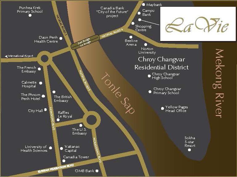 Location-Map la vie residences La Vie Residences Cambodia |  +65 61007122 Showflat Hotline La Vie Residences Location Map