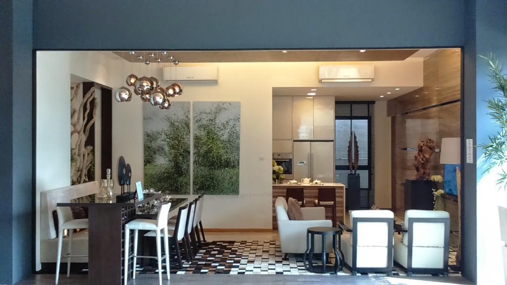 Living-Dining eco sanctuary Eco Sanctuary | Showflat Hotline +65 61007122 |Bukit Panjang Primary Living Dining