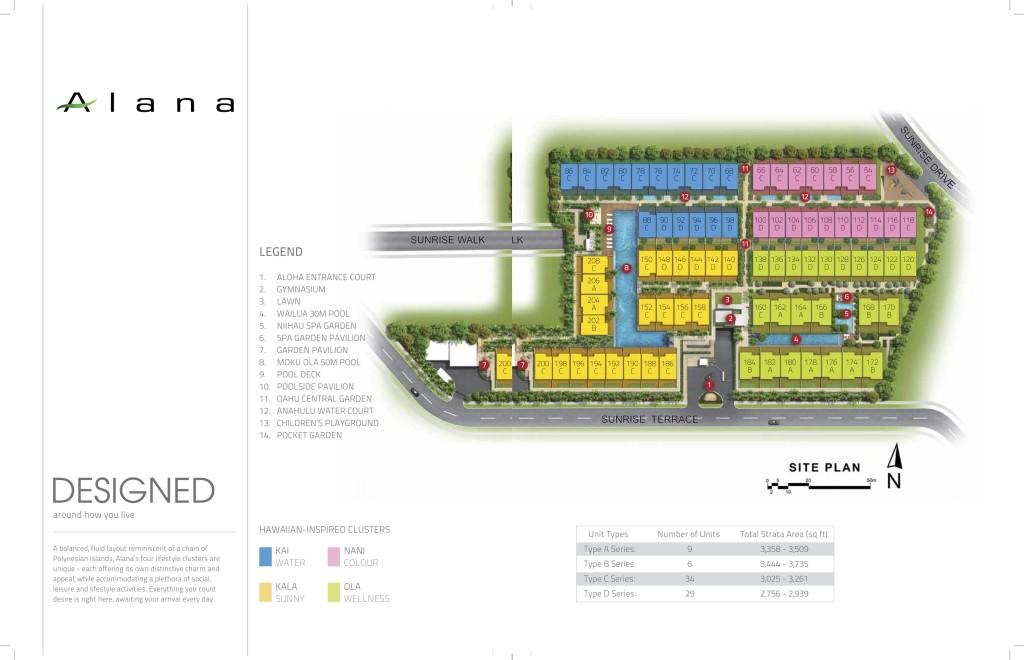 Alana Site Plan alana Alana @ Sunrise Terrace | Showflat Hotline +65 61007122 Site Plan3